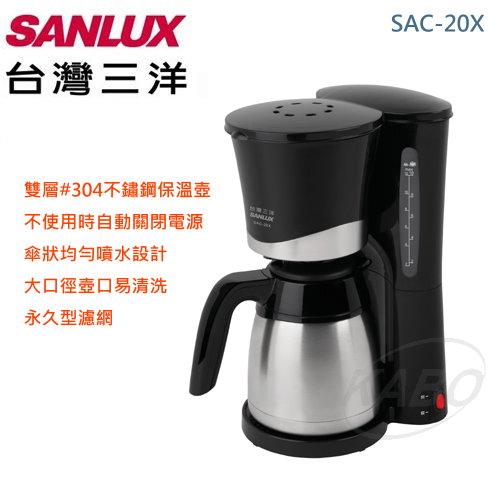 【佳麗寶】-《台灣三洋 SANYO / SANLUX 》1000CC 咖啡機 SAC-20X-0