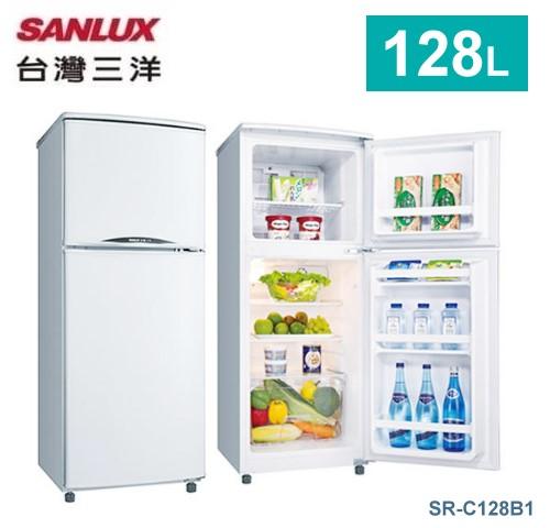 【佳麗寶】-留言加碼折扣《台灣三洋 / SANLUX 》雙門冰箱-128L【SR-C128B1】-0