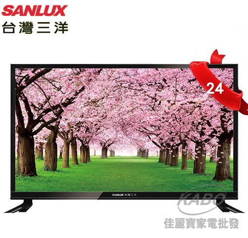 【佳麗寶】-留言再享折扣(台灣三洋SANLUX)24型LED背光液晶顯示器SMT-24MA3(含視訊盒)-0