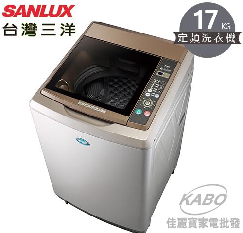 【佳麗寶】-留言加碼折扣(台灣三洋SANLUX) 17公斤超音波單槽洗衣機/SW-17AS6-0