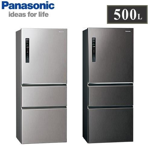 【佳麗寶】留言享加碼折扣(Panasonic國際牌)500L三門變頻冰箱 NR-C501XV-0