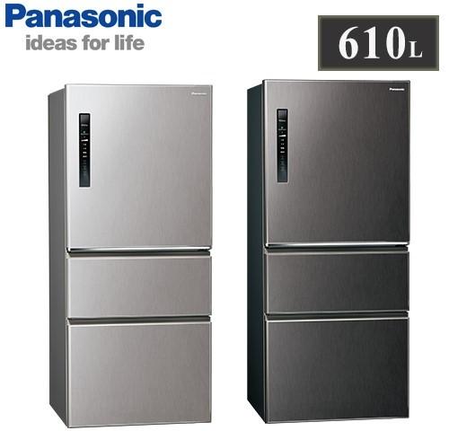 【佳麗寶】留言享加碼折扣(Panasonic國際牌)610L三門變頻冰箱 NR-C611XV-0