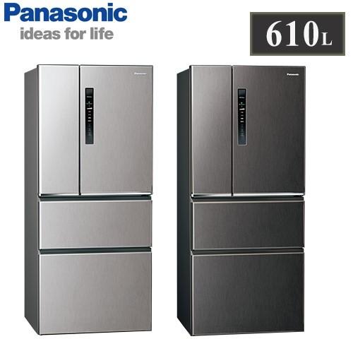 【佳麗寶】留言享加碼折扣(Panasonic國際牌)610L四門變頻冰箱 NR-D611XV-0