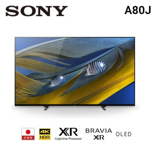【佳麗寶】留言加碼折扣(SONY)55型 4K OLED Google TV 顯示器 XRM-55A80J-0